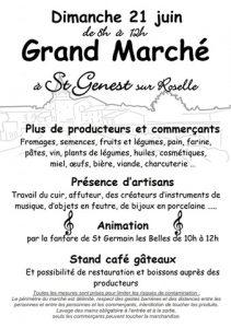 Grand Marché de Saint Genest sur roselle